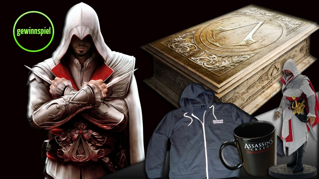 Assassin's Creed: Brotherhood Verlosung: Limited Codex Edition sowie Top-Fanstuff gewinnen